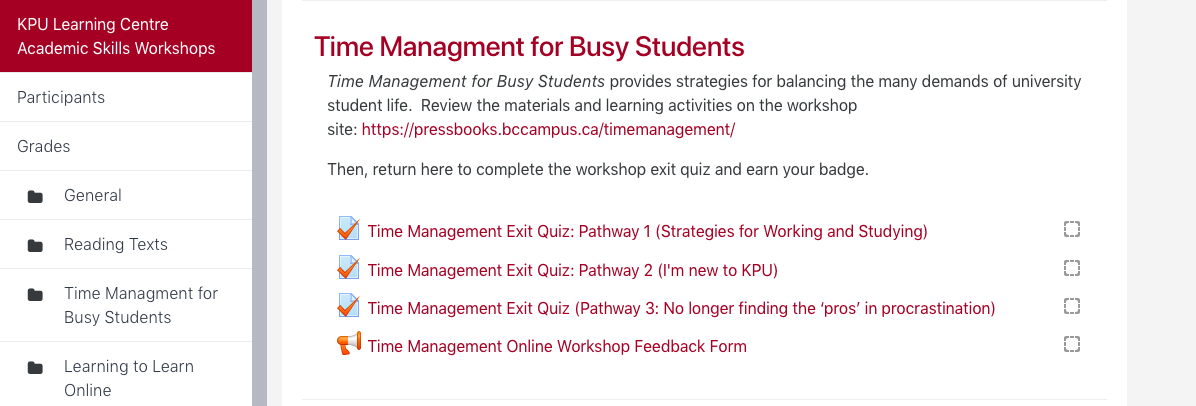 Congratulations – Time Management for Busy Students