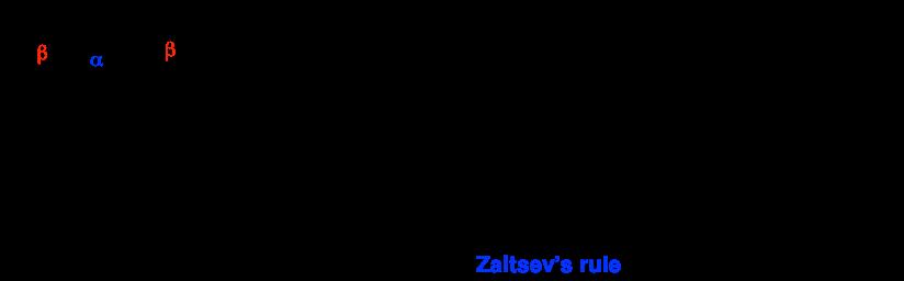 2-bromo-2-methylbutane (EtONa/EtOH) = 2-methyl-2-butene (70%) + 2-methyl-1-butene (30%)