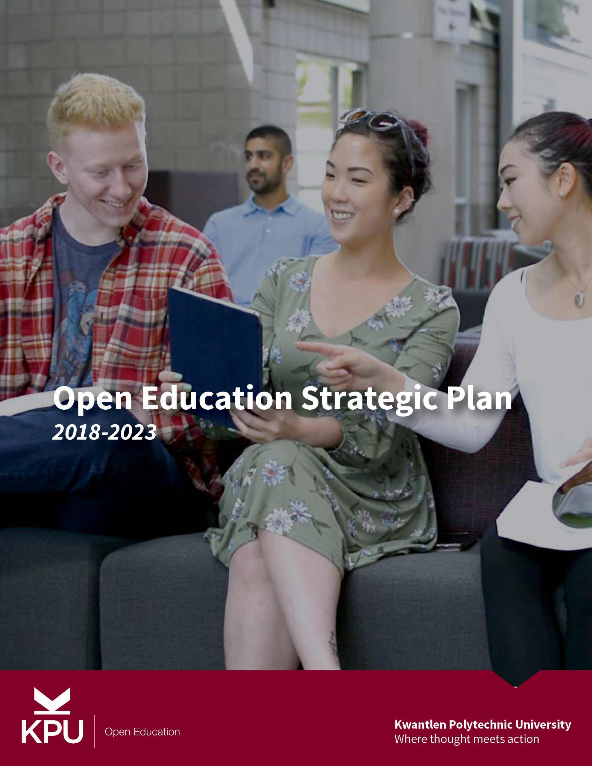 Cover image for Open Education Strategic Plan 2018-2023