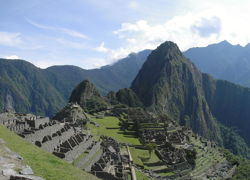 Hillside and ruins of Machu Picchu