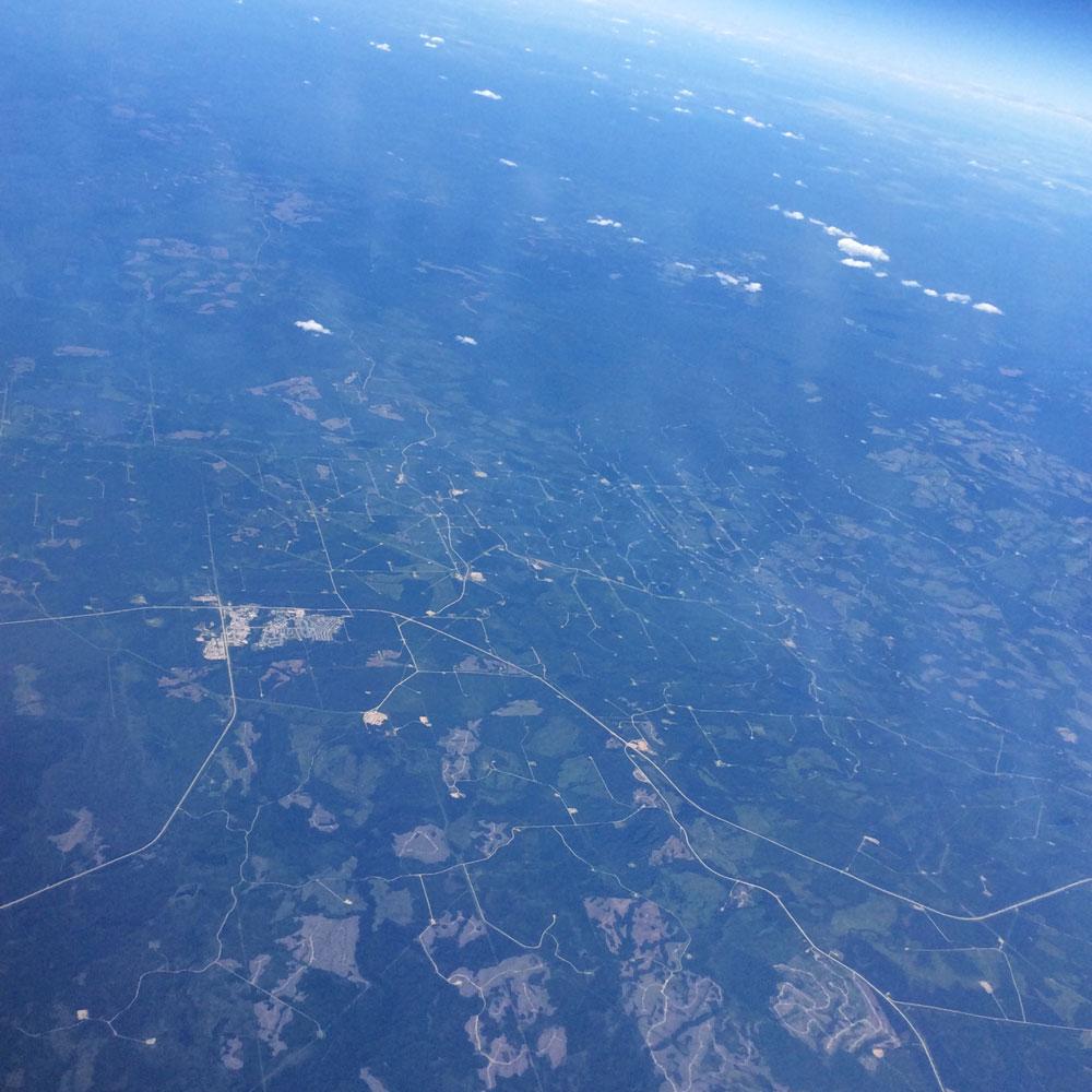 Arial image of northern Alberta