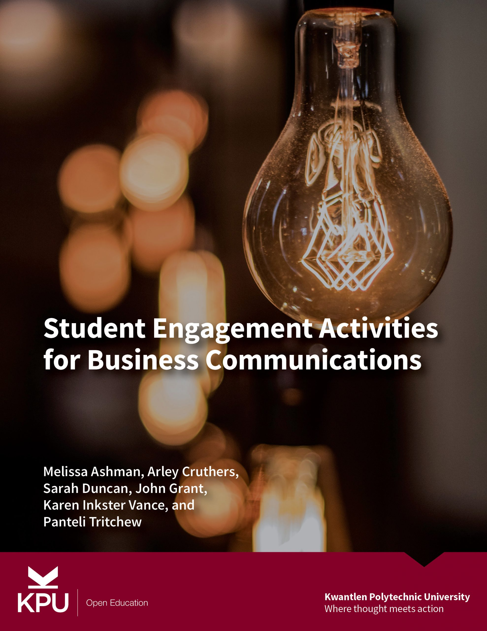 Cover image for Student Engagement Activities for Business Communications