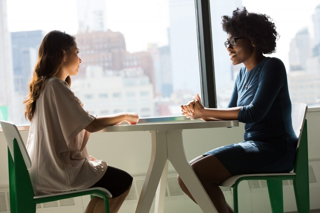 Two women in a job interview
