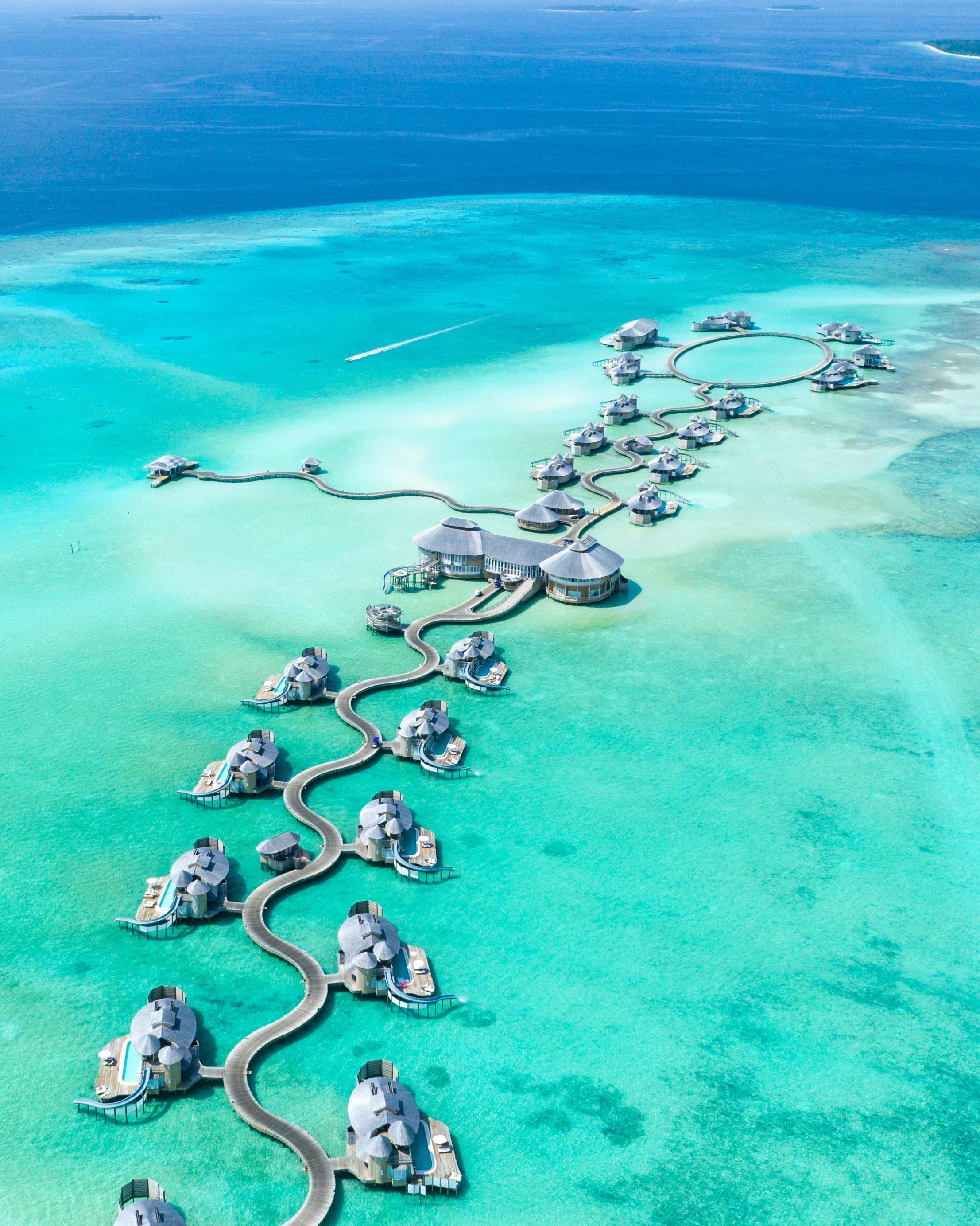 Photo of exotic tropic destination in the Maldives.