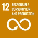 Graphic icon for SDG 12 Responsible consumption and production.